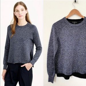 J. Crew Navy high low Shimmer Sweater